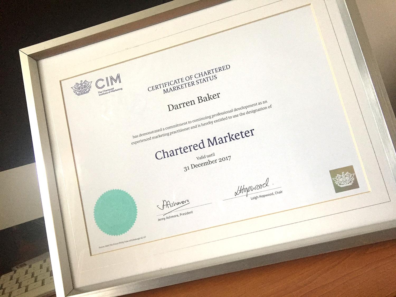 Cim certificate